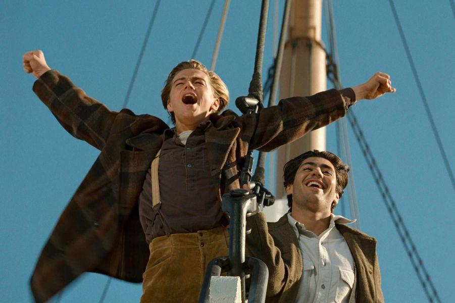 Leonardo DiCaprio et Danny Nucci sur le tournage de «Titanic»