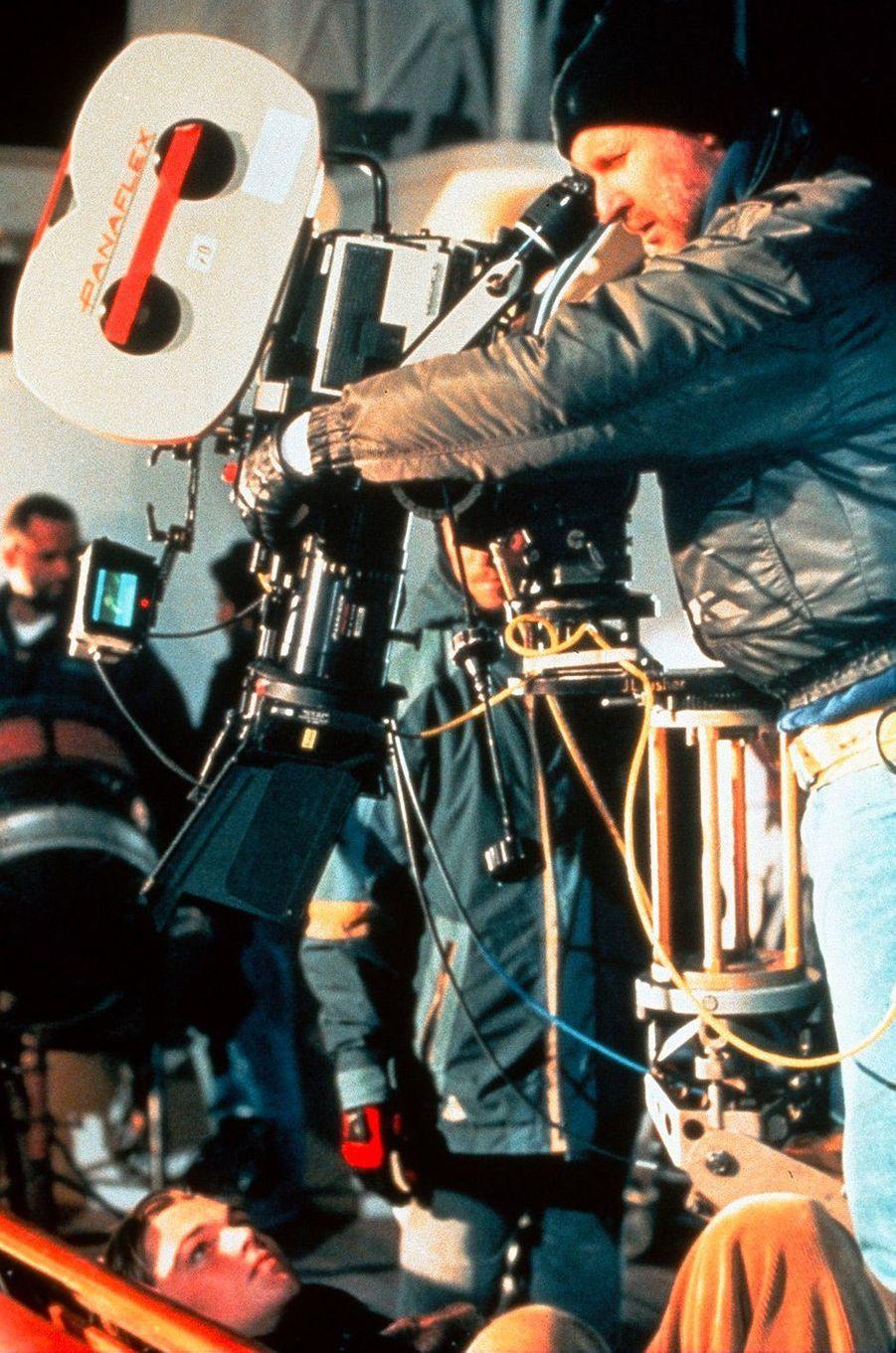 Leonardo DiCaprio et James Cameron sur le tournage de «Titanic»