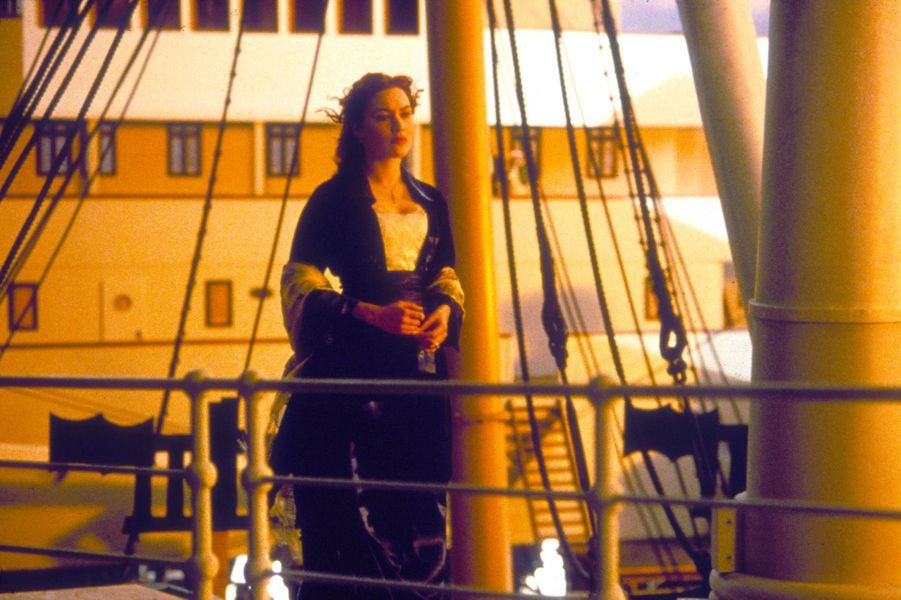 Kate Winslet sur le tournage de «Titanic»