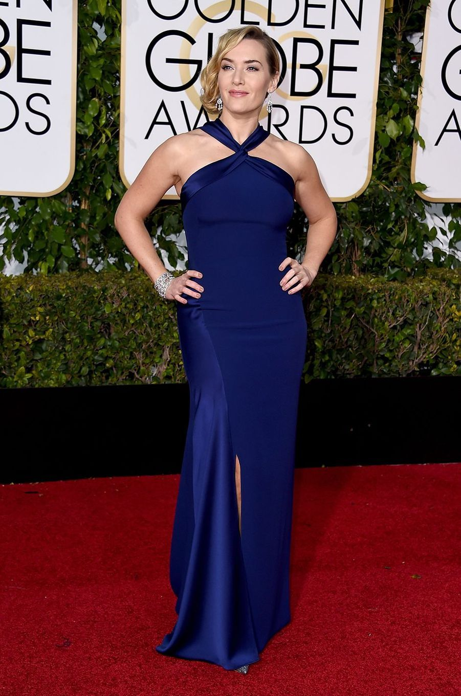 Kate Winslet aux Golden Globes à Los Angeles en janvier 2016