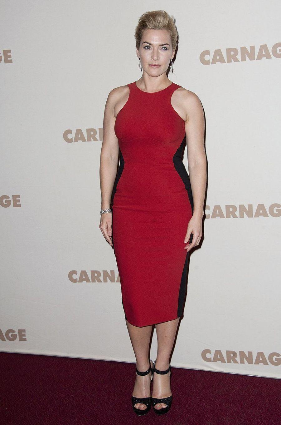Kate Winslet à l'avant-première du film «Carnage» à Paris en novembre 2011