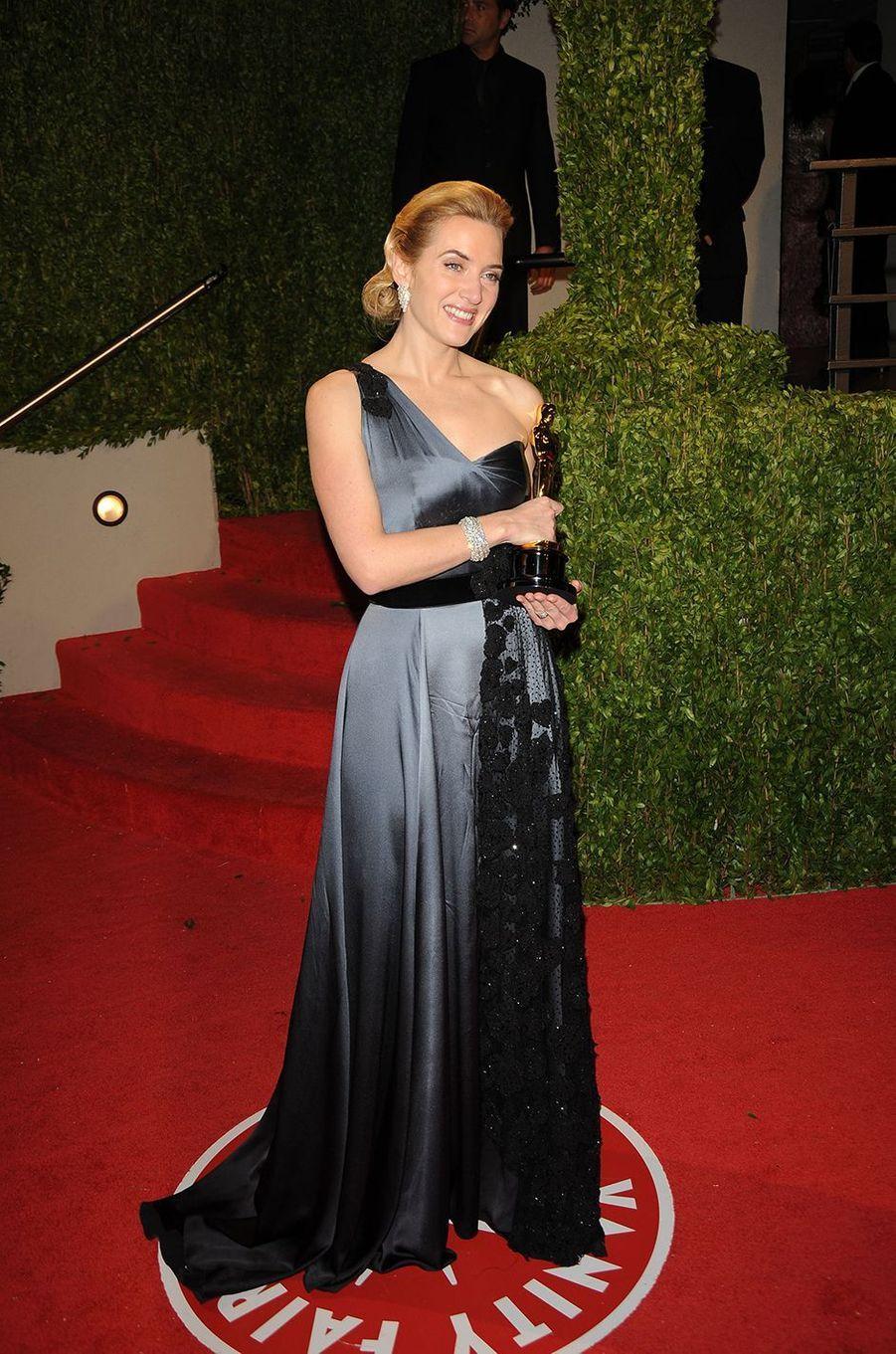 Kate Winslet après sa victoire aux Oscars (meilleure actrice pour «The Reader») à Los Angeles en février 2009