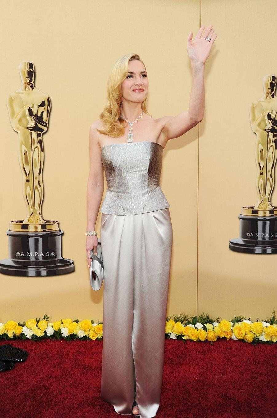 Kate Winslet aux Oscars à Los Angeles en mars 2010