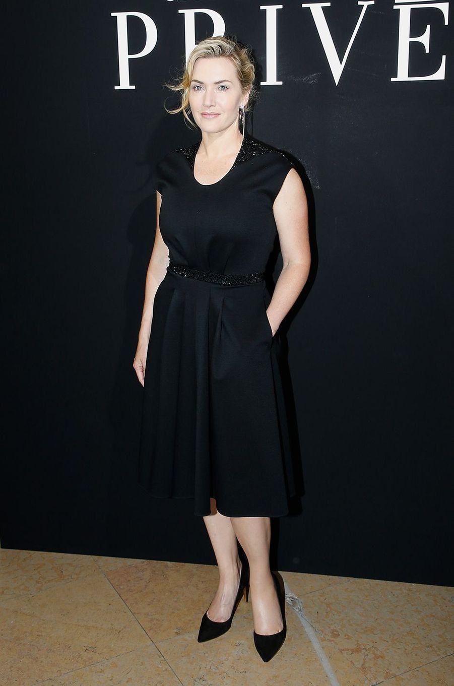 Kate Winslet au défilé Armani Privé à Paris en juillet 2017