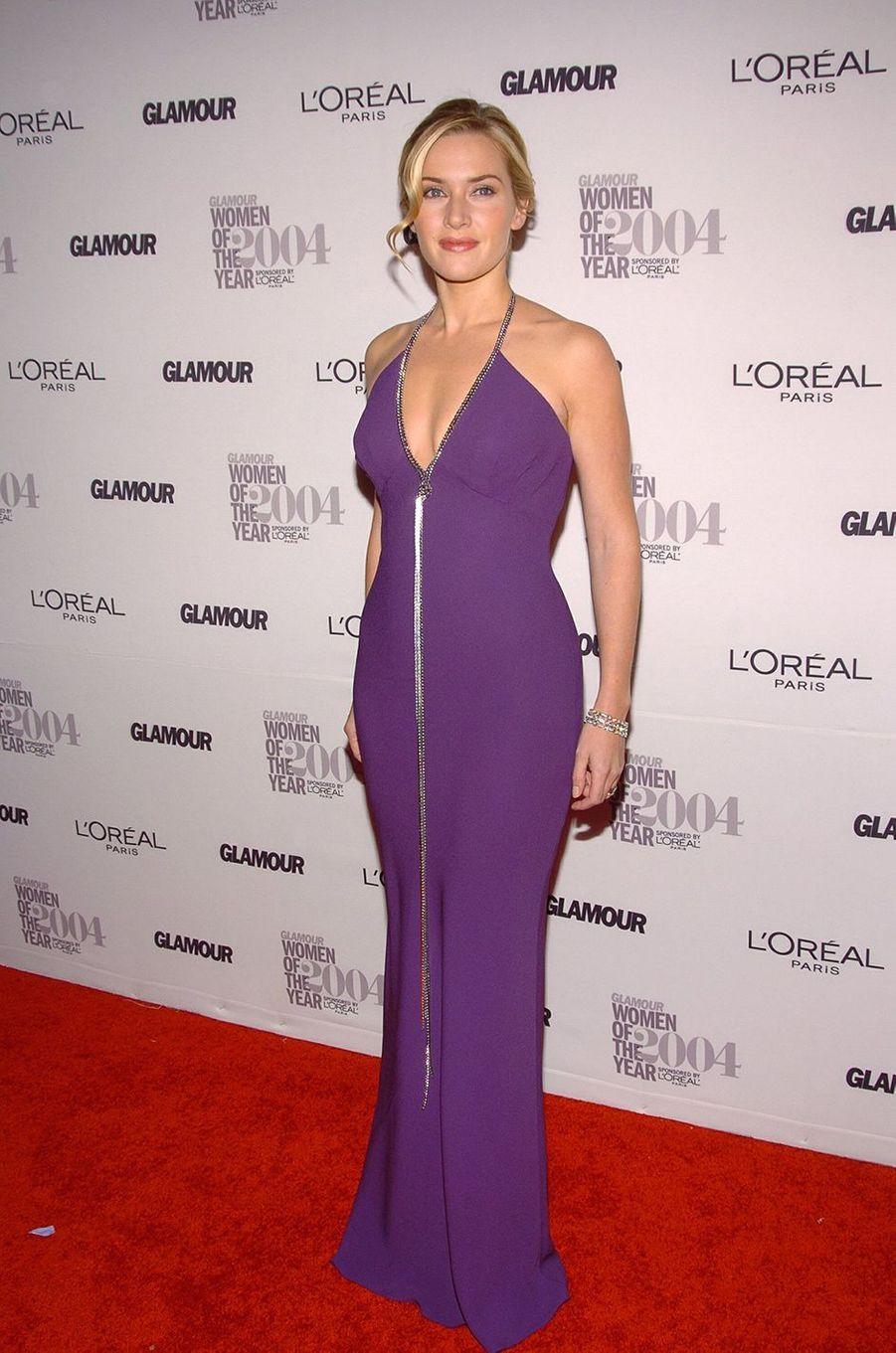 Kate Winslet lors d'une soirée organisée par le magazine «Glamour» à New York en novembre 2004
