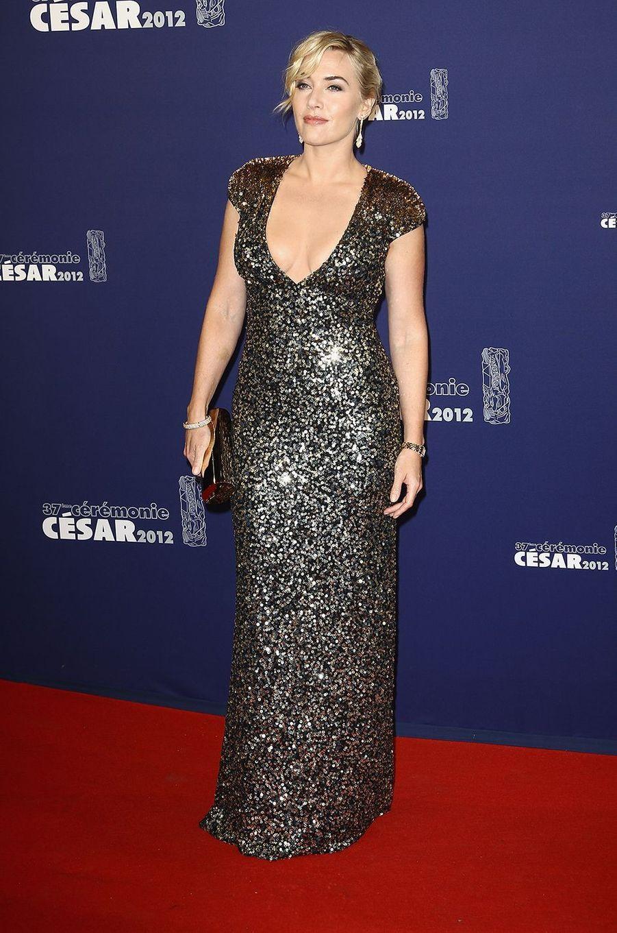 Kate Winslet aux César à Paris en février 2012