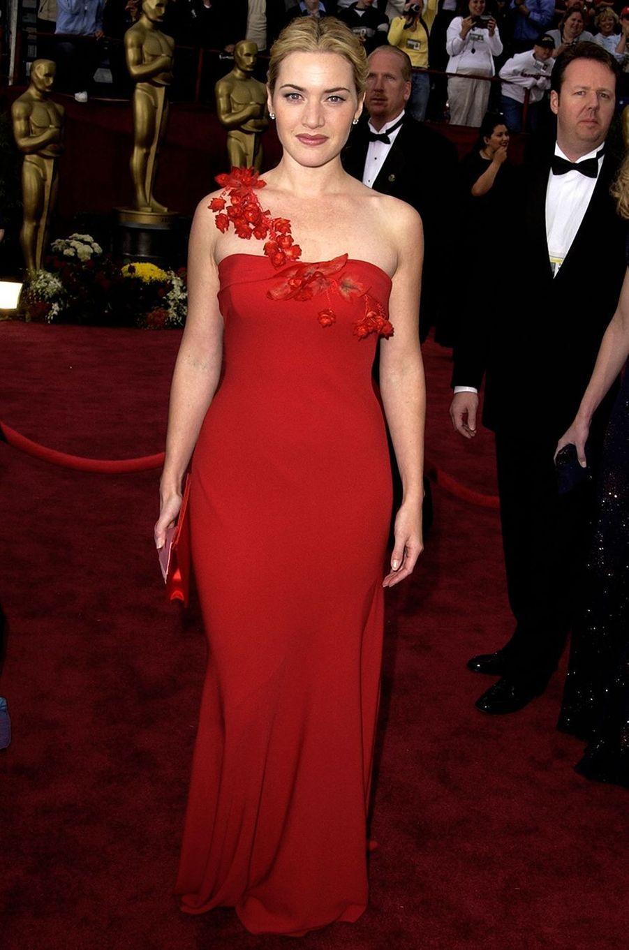 Kate Winslet aux Oscars à Los Angeles en mars 2002