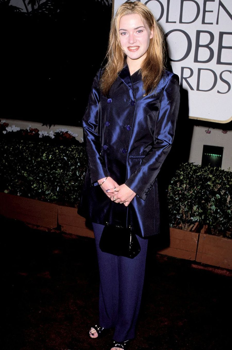 Kate Winslet aux Golden Globes à Los Angeles en janvier 1996