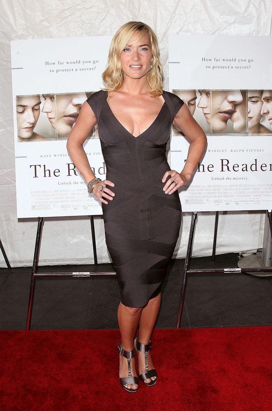 Kate Winslet à l'avant-première du film «The Reader» à New York en décembre 2008
