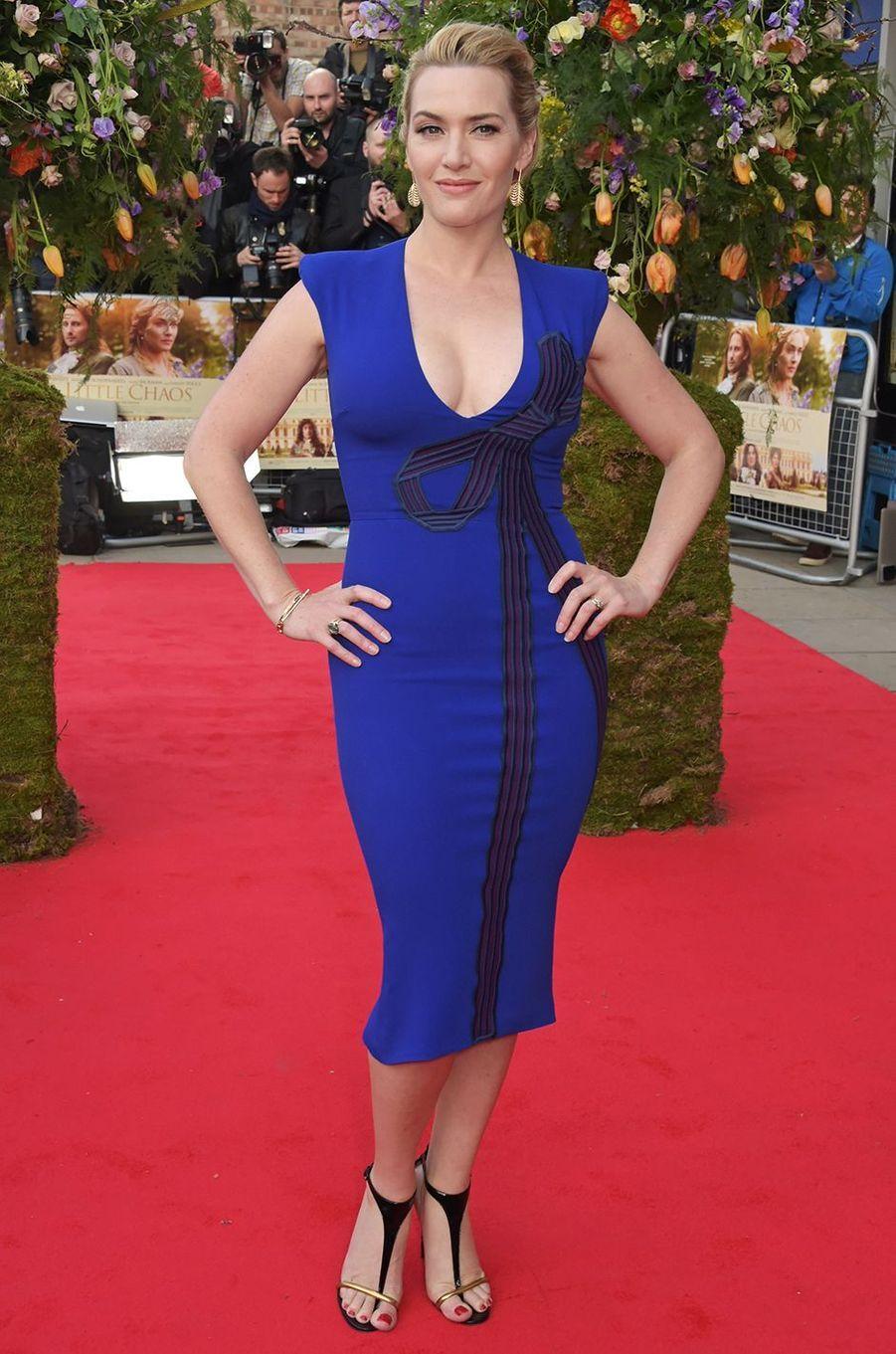 Kate Winslet à l'avant-première du film «Les Jardins du roi» à Londres en avril 2015