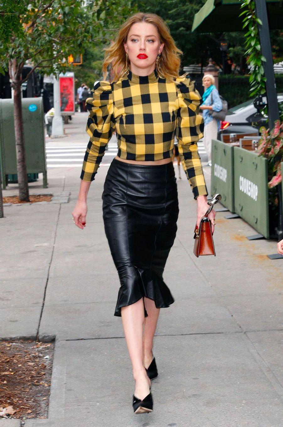 Amber Heard au défilé Alice & Olivia à New York le 11 septembre 2018