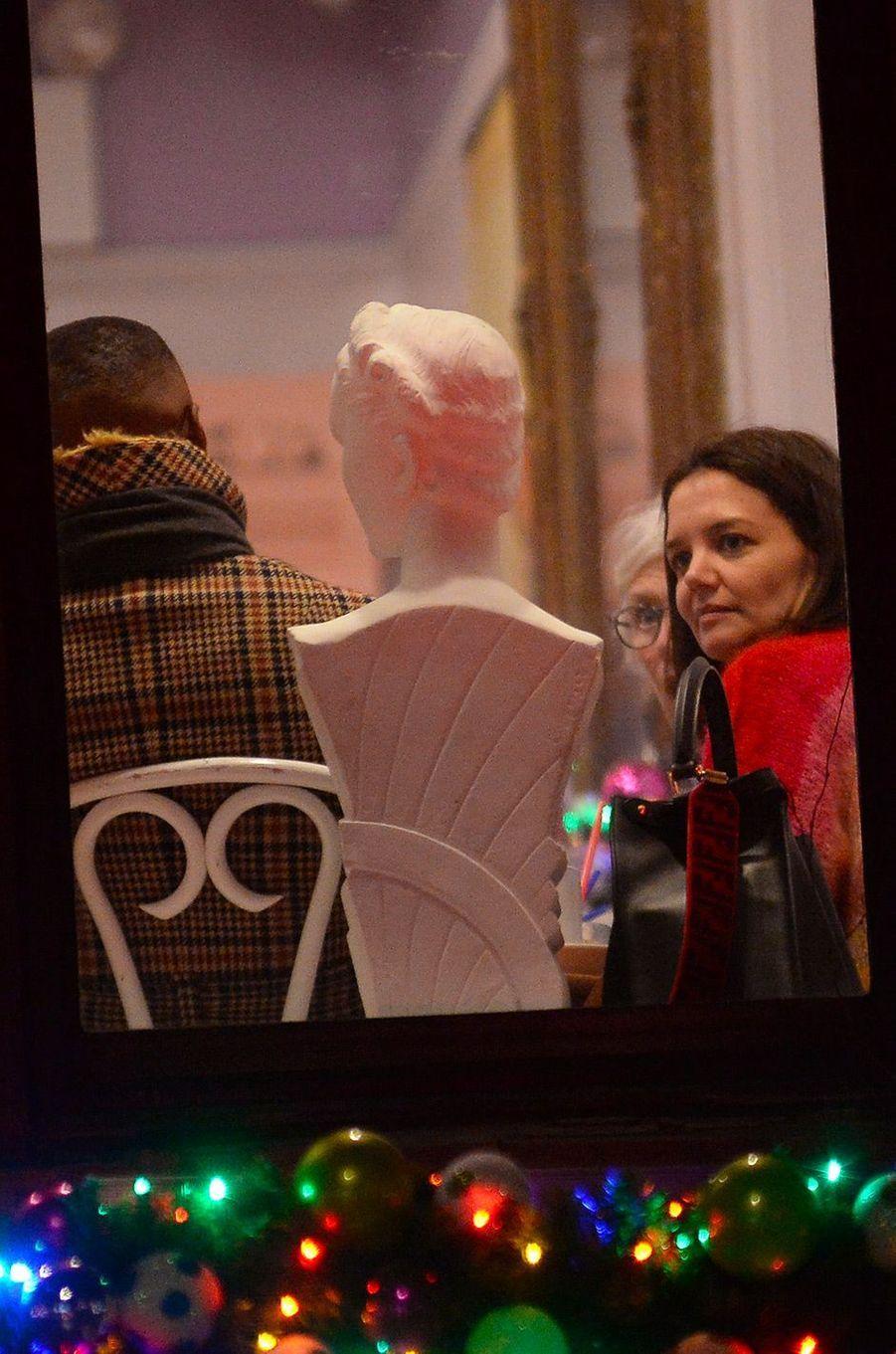 Jamie Foxx et Katie Holmes à New York, mardi 18 décembre