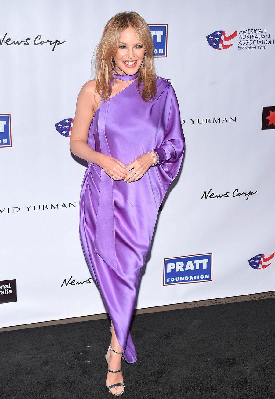 """Kylie Minoguelors dela soirée des """"American Australian Association Arts Awards"""" à New York, le 30 janvier 2020."""
