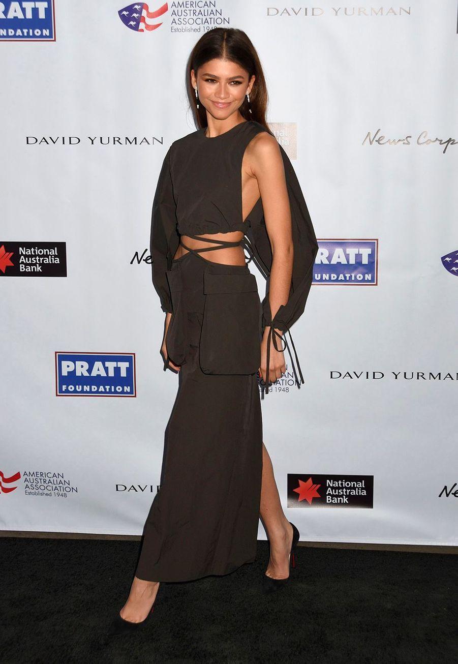 """Zendayalors dela soirée des """"American Australian Association Arts Awards"""" à New York, le 30 janvier 2020."""
