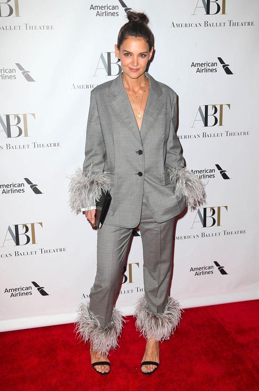 Katie Holmes au gala de l'American Ballet Theatre, à New York, mercredi 17 octobre