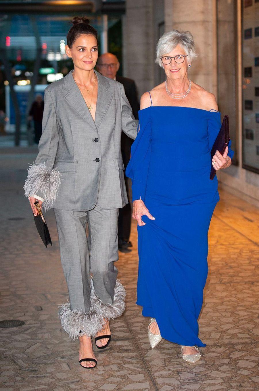 Katie Holmes et sa mère Kathleen au gala de l'American Ballet Theatre, à New York