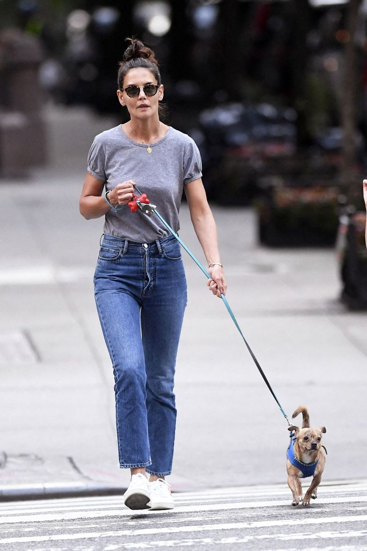 Katie Holmes à New York le 19 août 2019