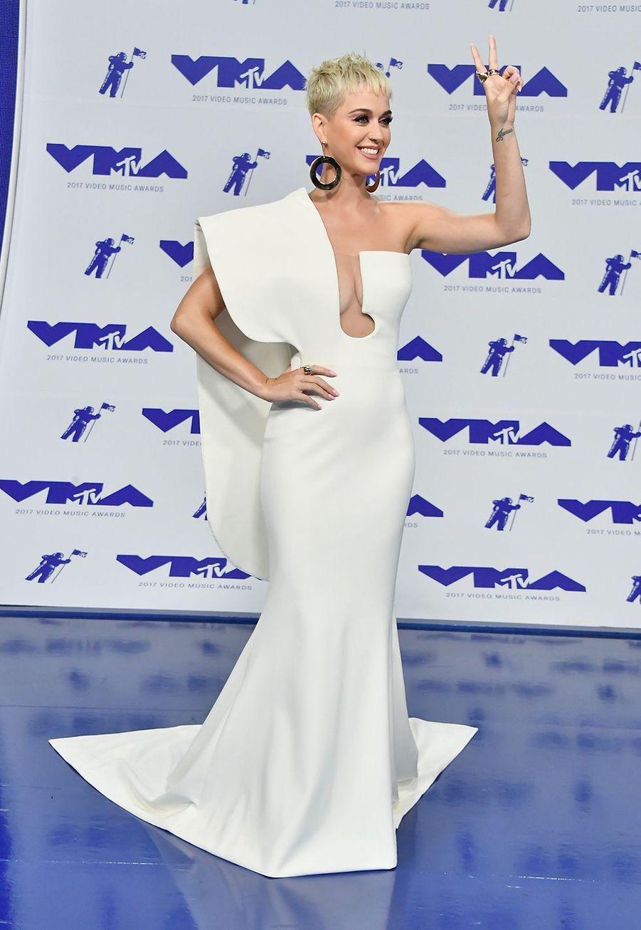 Katy Perry au MTV Video Music Awards en août 2017.