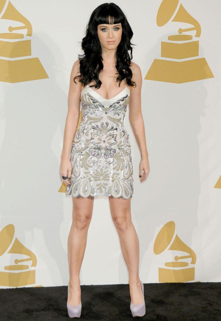 Katy Perry aux nominations des Grammy Awards en décembre 2009.