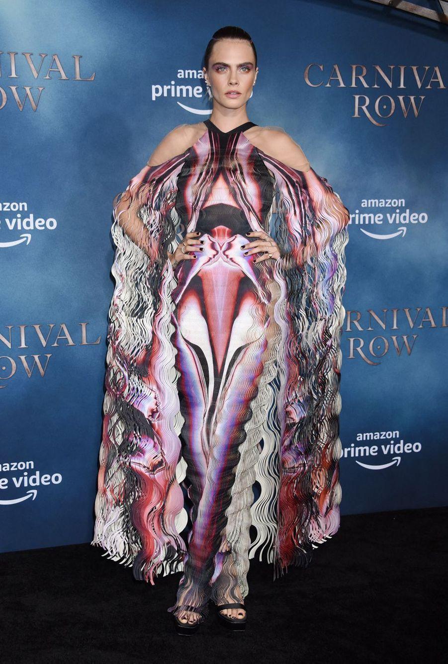 """Cara Delevingneà la première de """"Carnival Row"""", le 21 août 2019 à Los Angeles."""