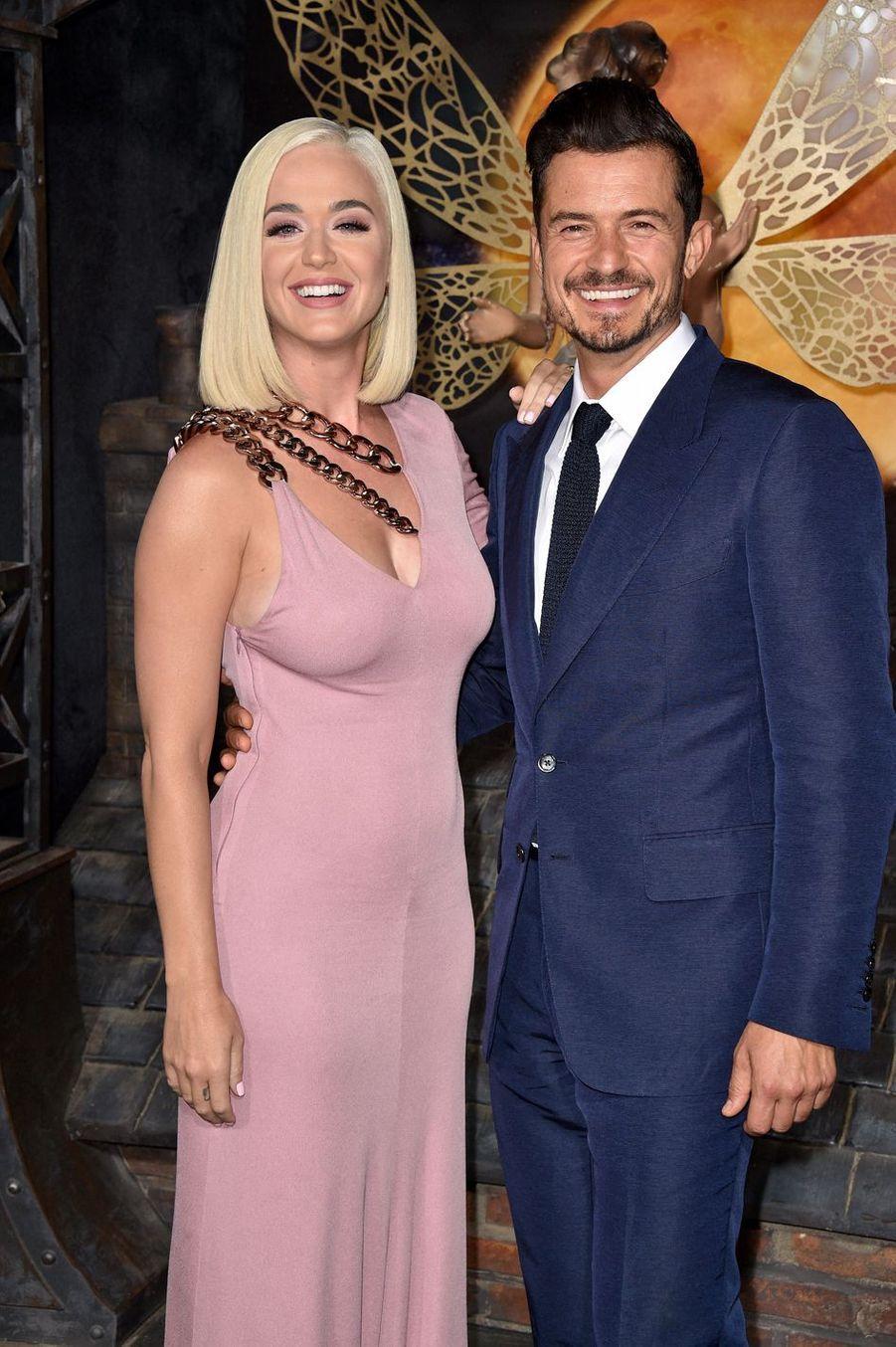 """Katy Perry et Orlando Bloom à la première de """"Carnival Row"""", le 21 août 2019 à Los Angeles."""
