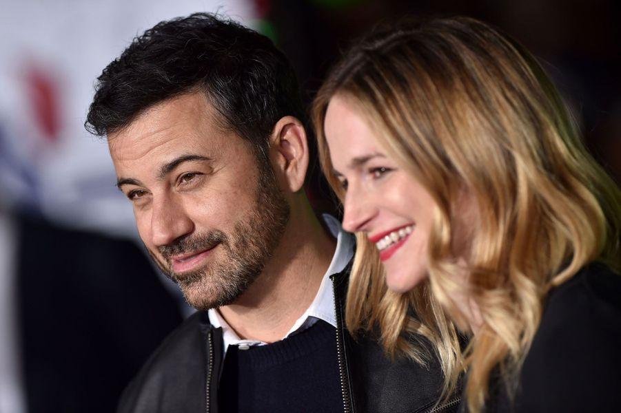 Jimmy Kimmel et sa femme,Molly McNearneypour la première de «Joyeux Bordel! »