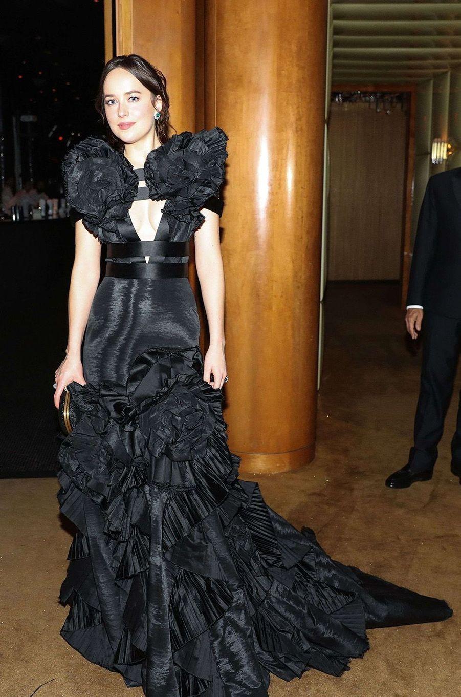 Dakota Johnsonà l'after-party du Met Gala 2017.