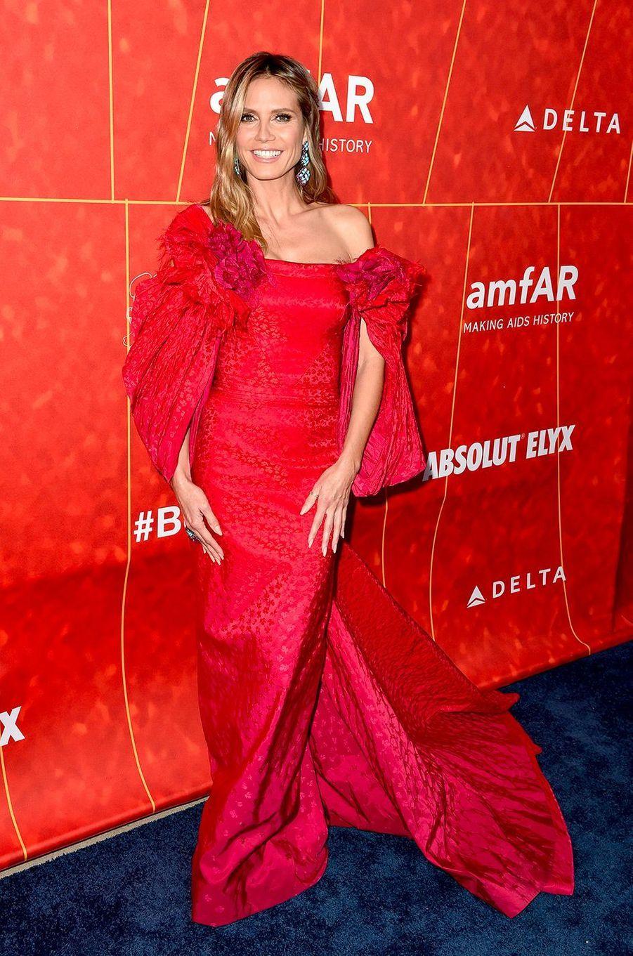 Heidi Klum au gala de l'amfAR, jeudi 18 octobre