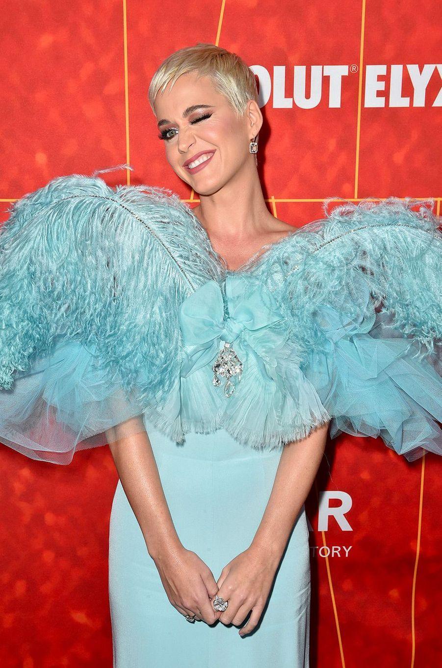 Katy Perry au gala de l'amfAR, jeudi 18 octobre