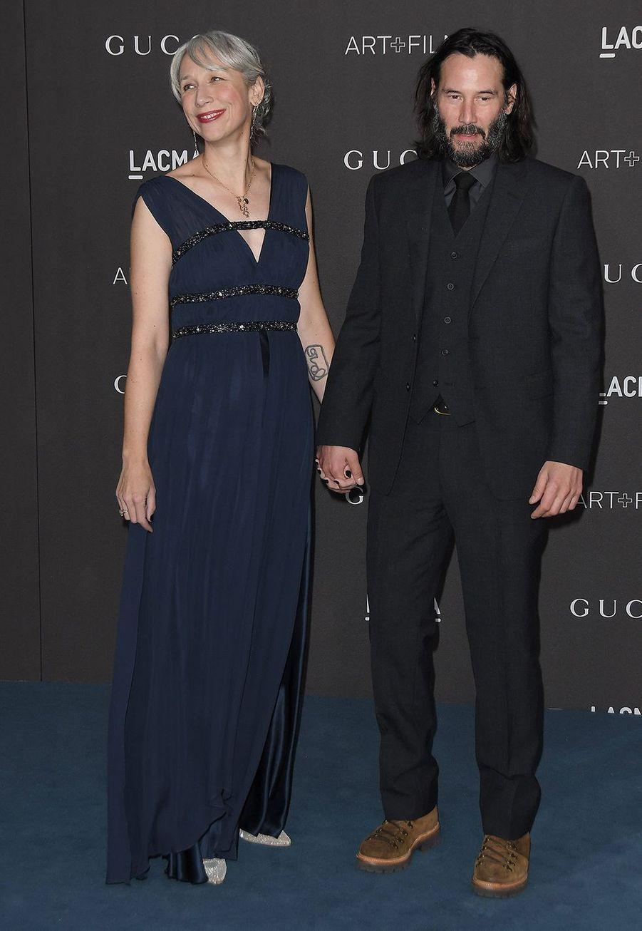 Alexandra Grant et Keanu Reeves au gala du LACMA à Los Angeles le 2 novembre 2019