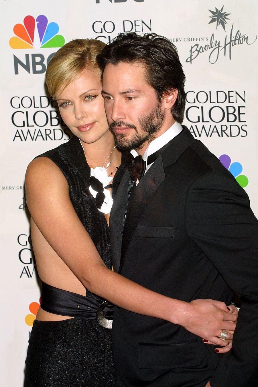 Keanu Reeves en 2001 avec Charlize Theron pour «Sweet November»
