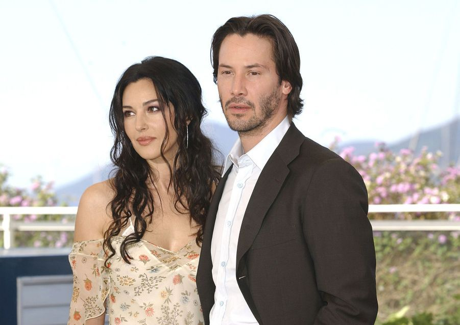 Keanu Reeves en 2003 avec Monica Bellucci pour «Matrix Reloaded»