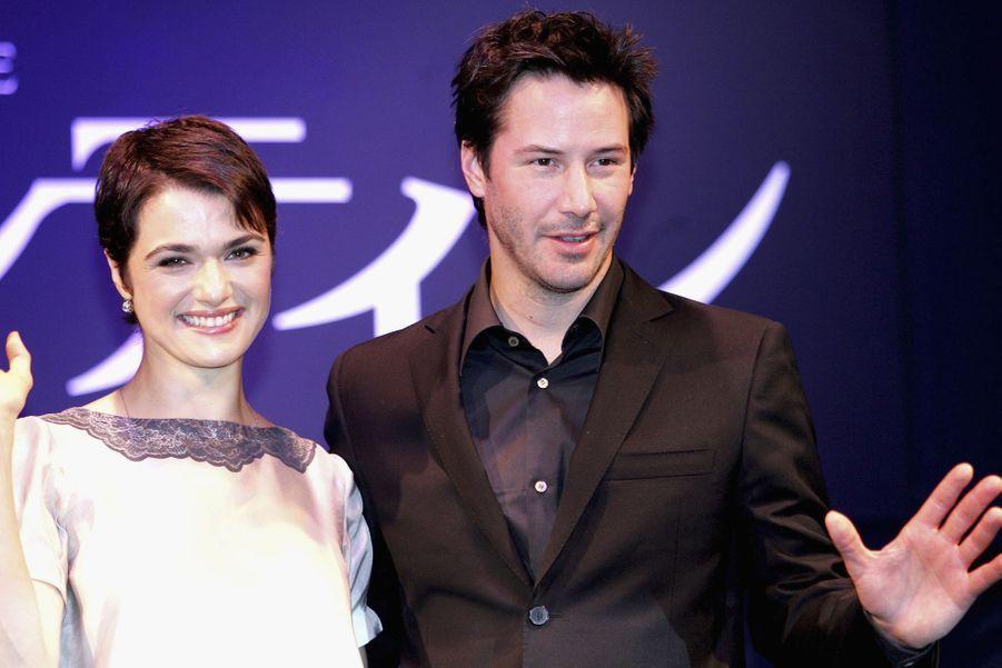 Keanu Reeves en 2005 avec Rachel Weisz pour «Constantine»