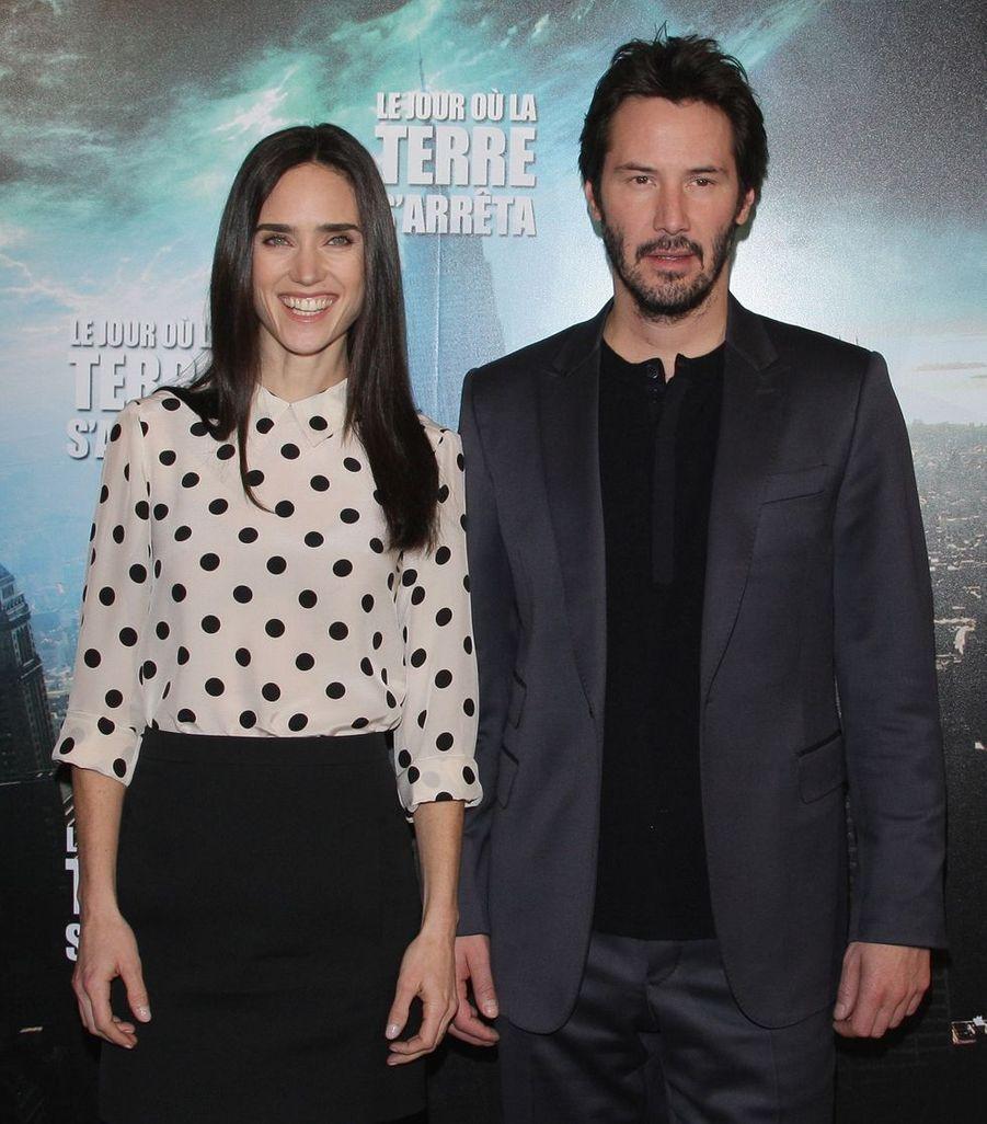 Keanu Reeves en 2008 avec Jennifer Connelly pour «Le Jour où la Terre s'arrêta»