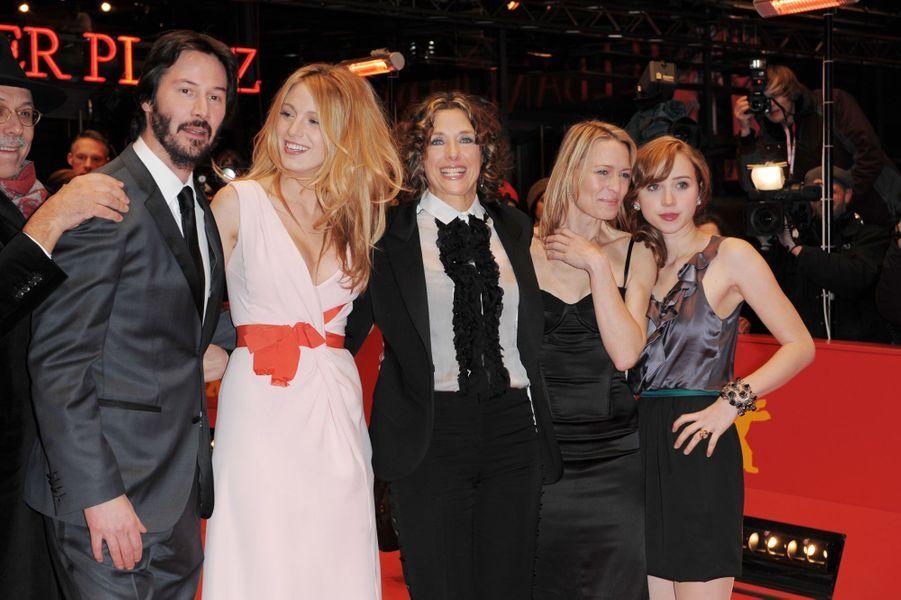 Keanu Reeves en 2009 avec Blake Lively, Rebecca Miller, Robin Wright et Zoe Kazan pour «Les Vies privées de Pippa Lee»