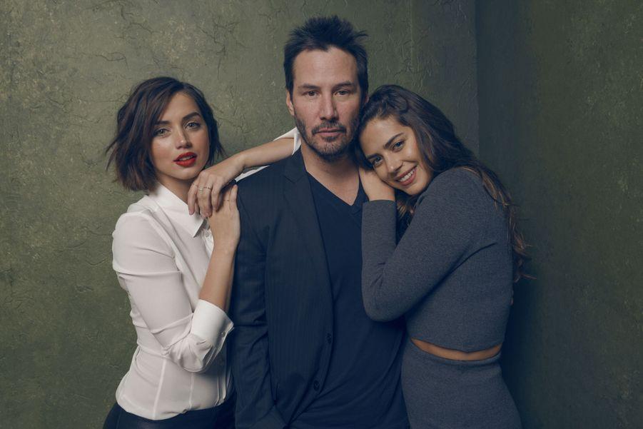 Keanu Reeves en 2015 avec Ana de Armas et Lorenza Izzo pour «Knock Knock»