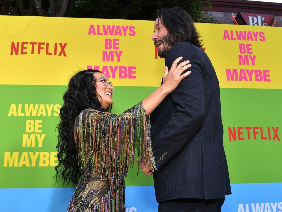 Keanu Reeves en 2019 avec Ali Wong pour «Always Be My Maybe»