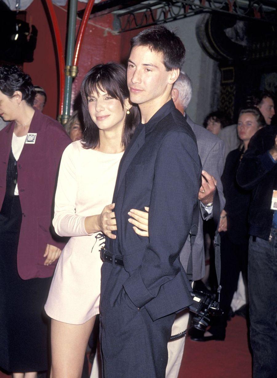 Keanu Reeves en 1994 avec Sandra Bullock pour «Speed»