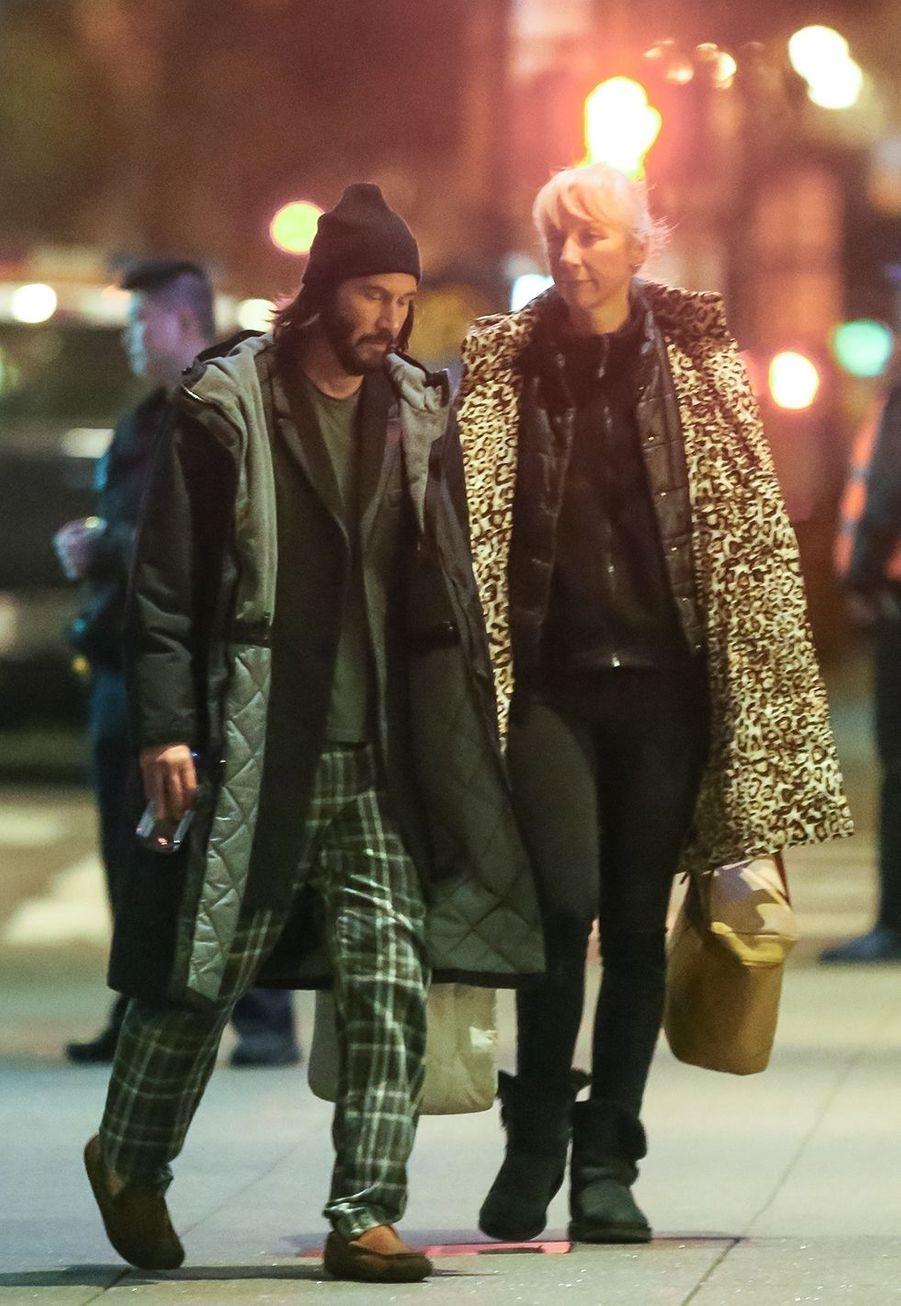 Keanu Reeves et Alexandra Grantà San Francisco le 24 février 2020