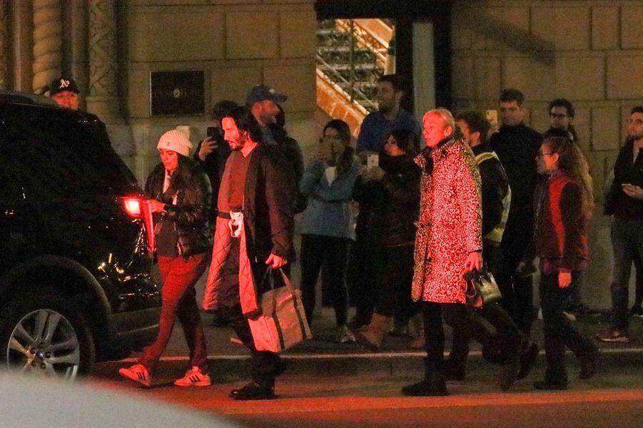 Keanu Reeves et Alexandra Grant à San Francisco le 21 février 2020