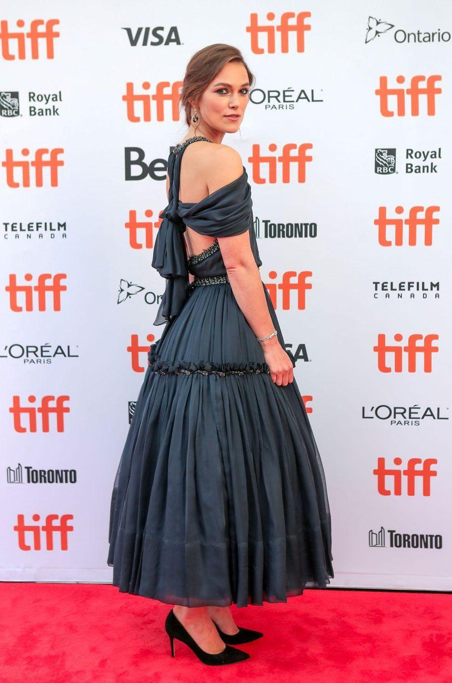 Keira Knightley au Festival de Toronto le 11 septembre 2018