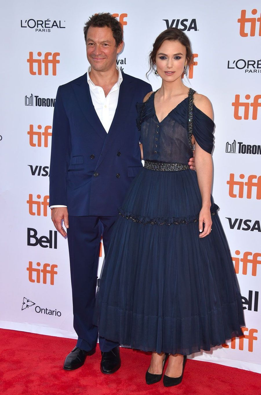 Keira Knightley et Dominic West au Festival de Toronto le 11 septembre 2018