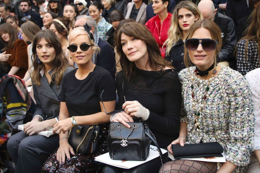 Front row du défilé Chanel, à Paris le 6 mars 2018