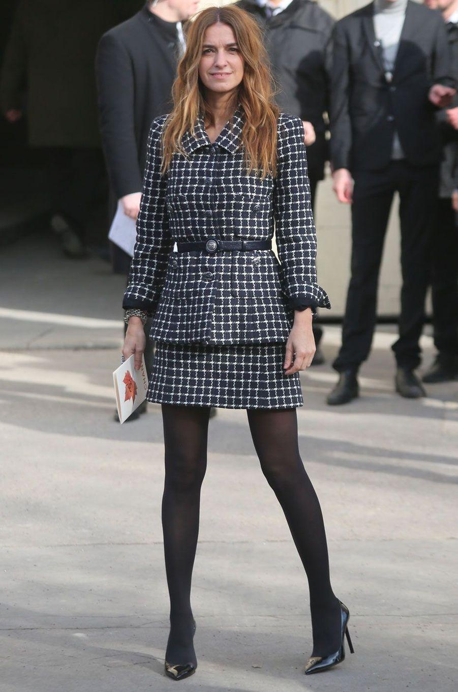 Joana Preiss au défilé Chanel, à Paris le 6 mars 2018