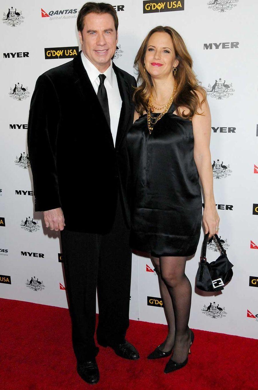 John Travolta et Kelly Preston, en janvier 2011.