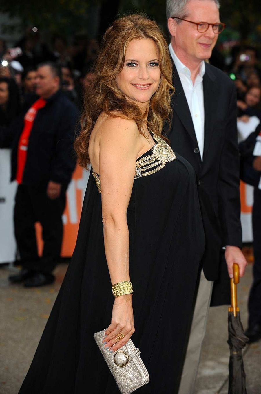 Kelly Preston enceinte de son fils Benjamin, en septembre 2010.