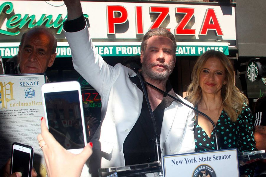 John Travolta et Kelly Preston, en juin 2018.