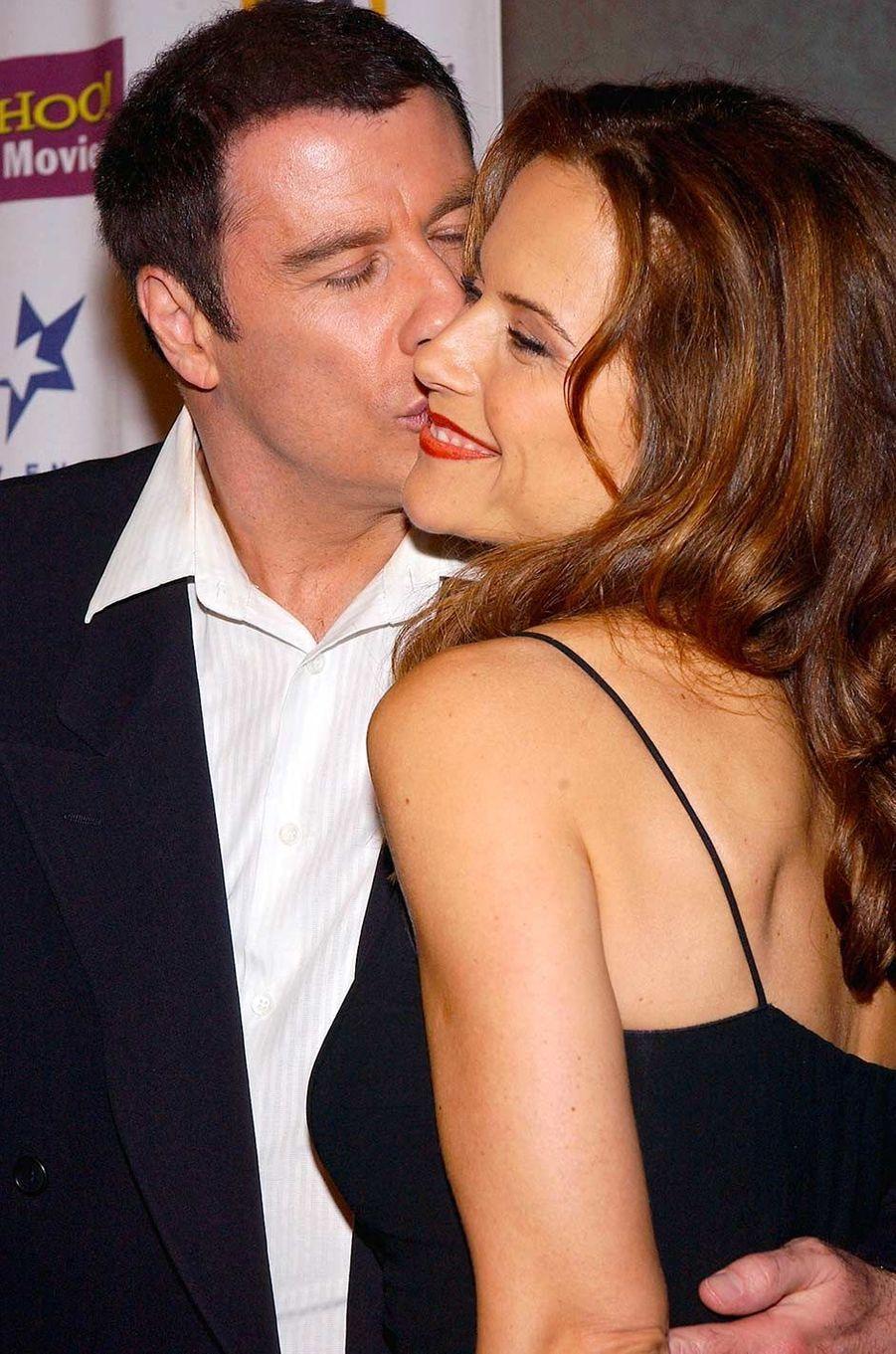 John Travolta et Kelly Preston, en octobre 2004.