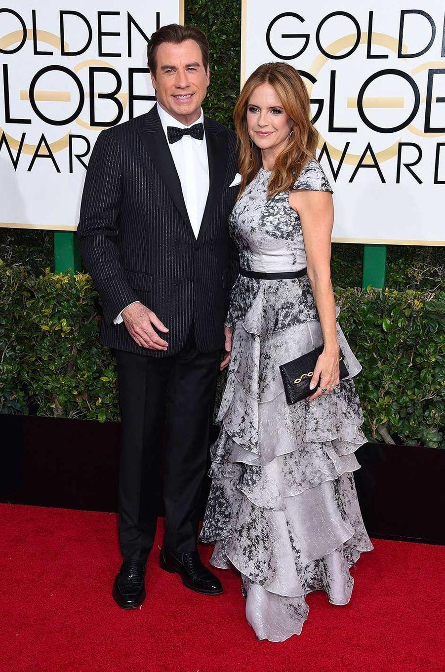 John Travolta et Kelly Preston, en janvier 2017.