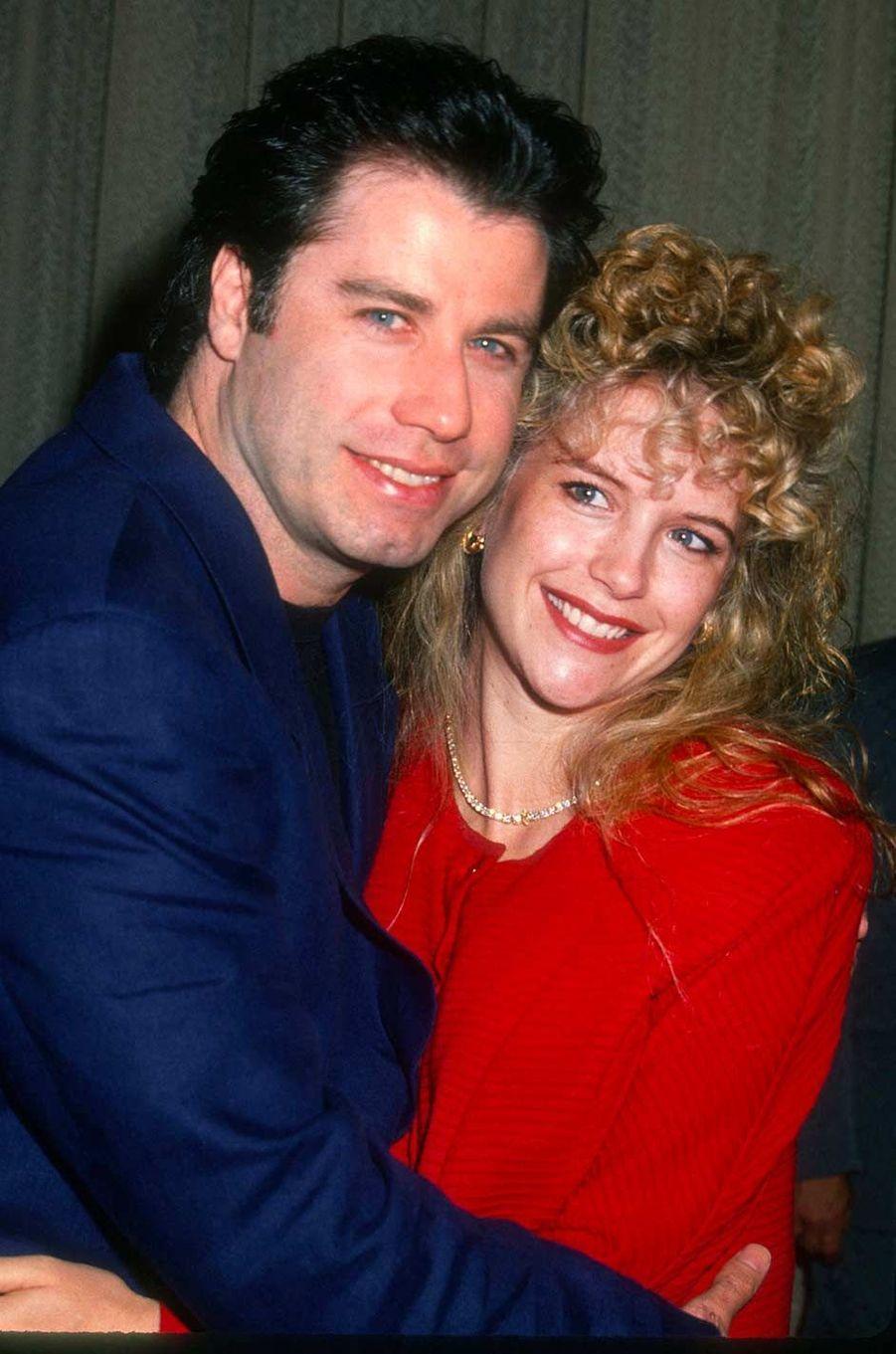 John Travolta et Kelly Preston dans les années 90.